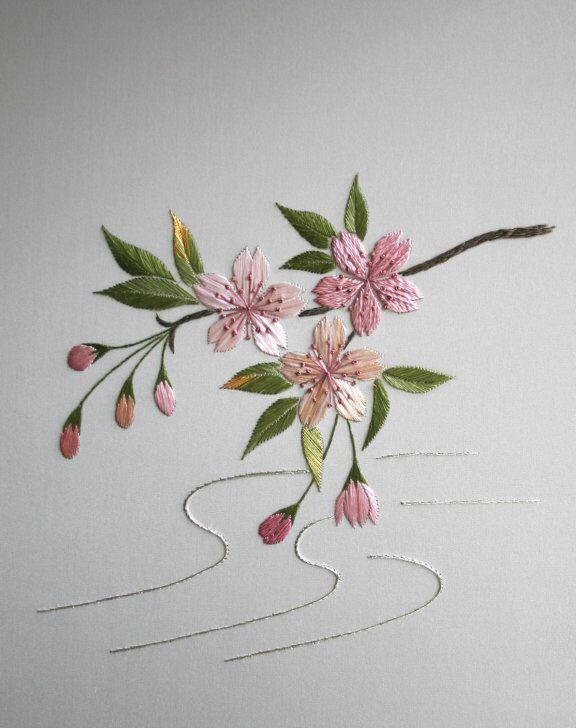 Image from http://www.embroiderersguildwa.org.au/workshops14/wk_images/SAKURA-Japanesex.jpg.