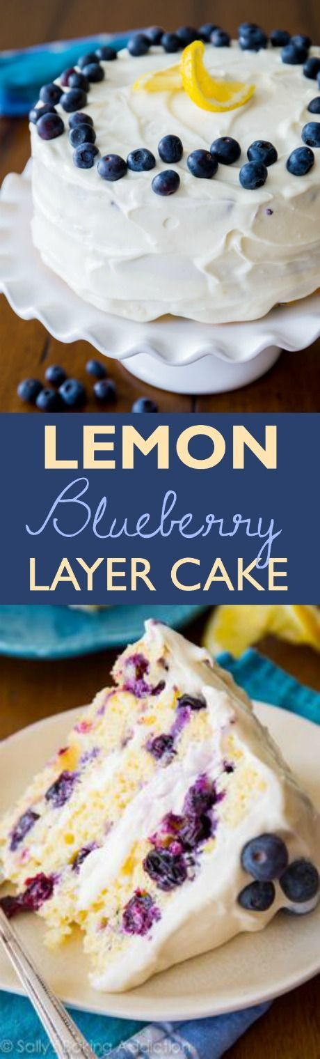 One of the most popular recipes on my blog-- get the recipe for lemon blueberry cake