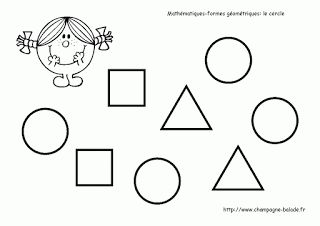 Rond, cercle petite section, mathématiques avec monsieur bonhomme