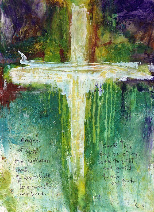 Guardian Angel Prayer Painting  - Guardian Angel Prayer Fine Art Print