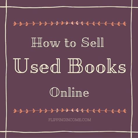 How to Sell Used Books Online