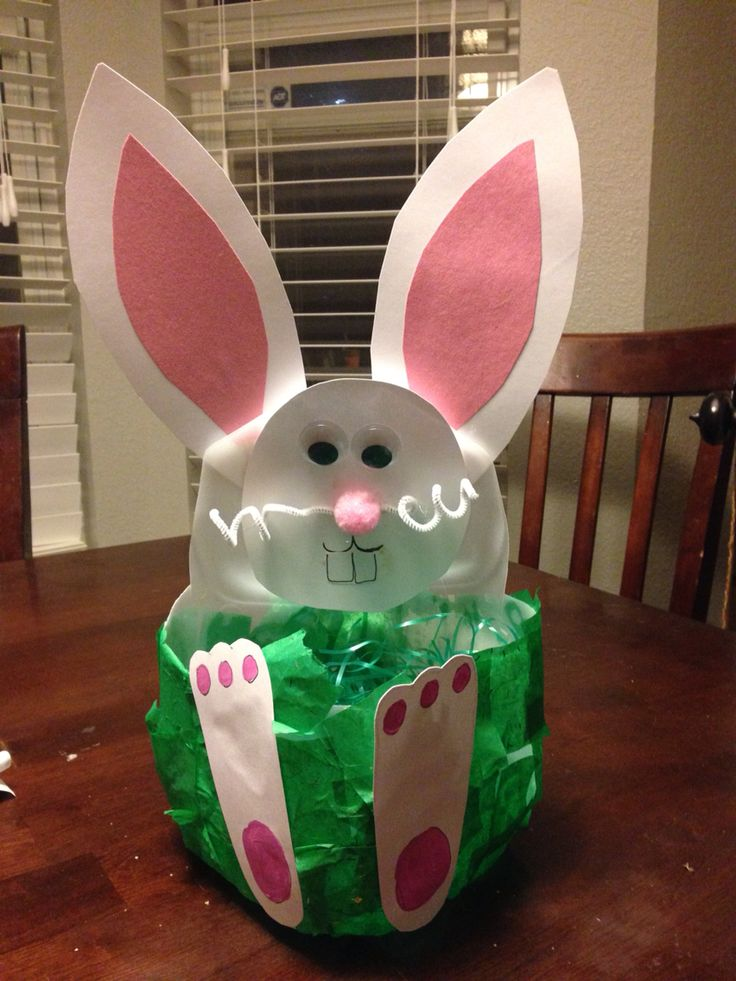8 best easter images on pinterest easter crafts baby crafts and milk jug easter basket negle Images