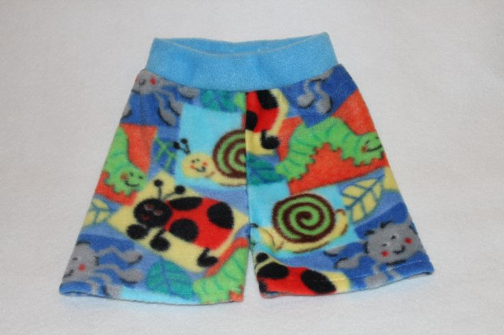 3090157 These medium bright bug fleece boxers will soon be on www.etsy.com/shops/bananabottoms