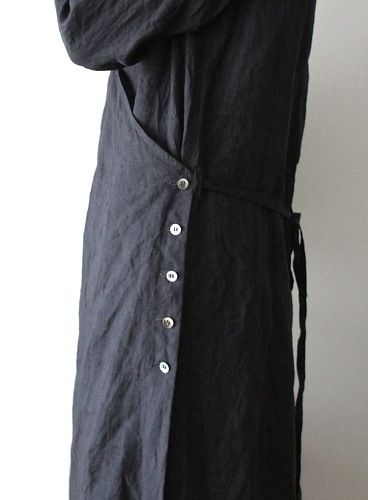 I like the idea of putting wooden buttons down the side of a smock top. A little like our seasalt dresses