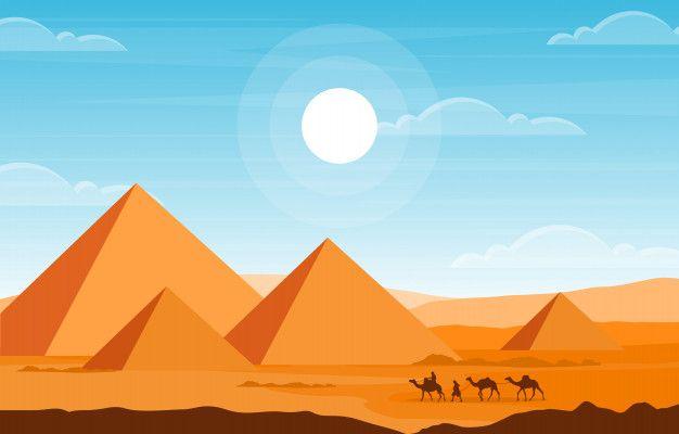 Camello Caravana Cruzando Egipto Piramid Premium Vector Freepik Vector Dibujos Animados Cielo Paisaje Celeb Piramides De Egipto Egipto Dibujo Egipto