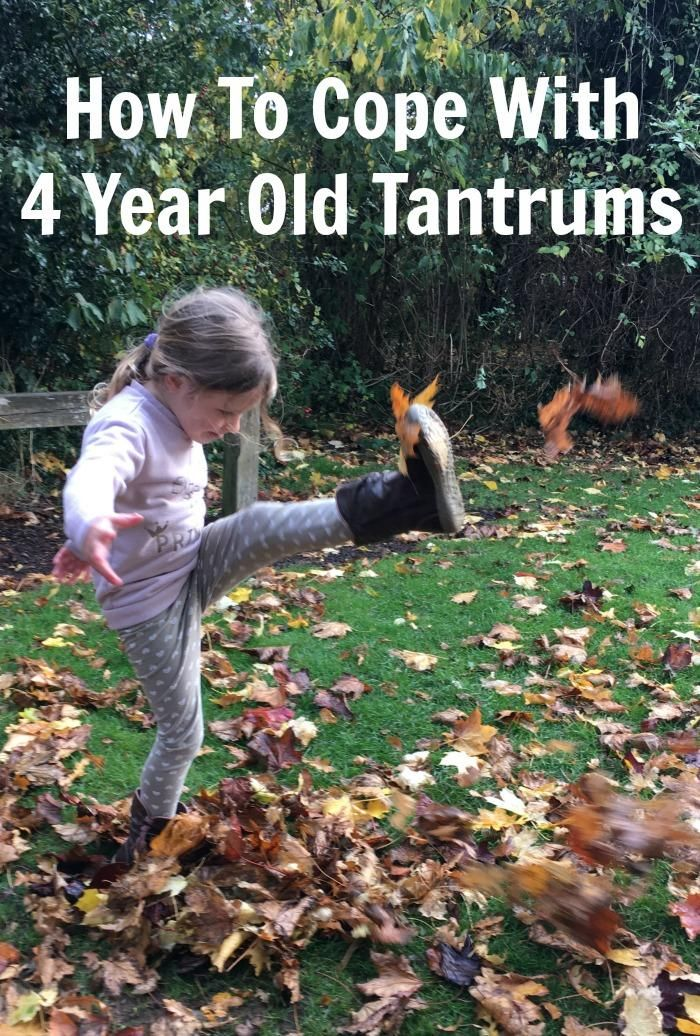 How To Cope With 4 Year Old Tantrums