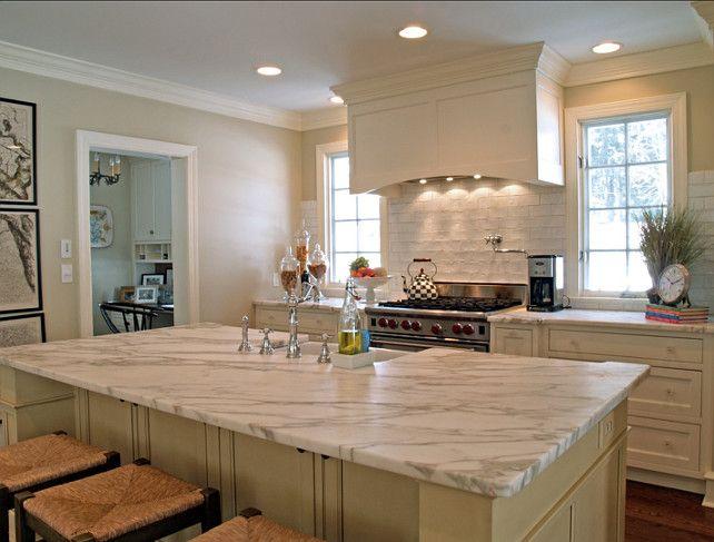 KITCHEN – White Marble Kitchen Countertop. Great White Marble!