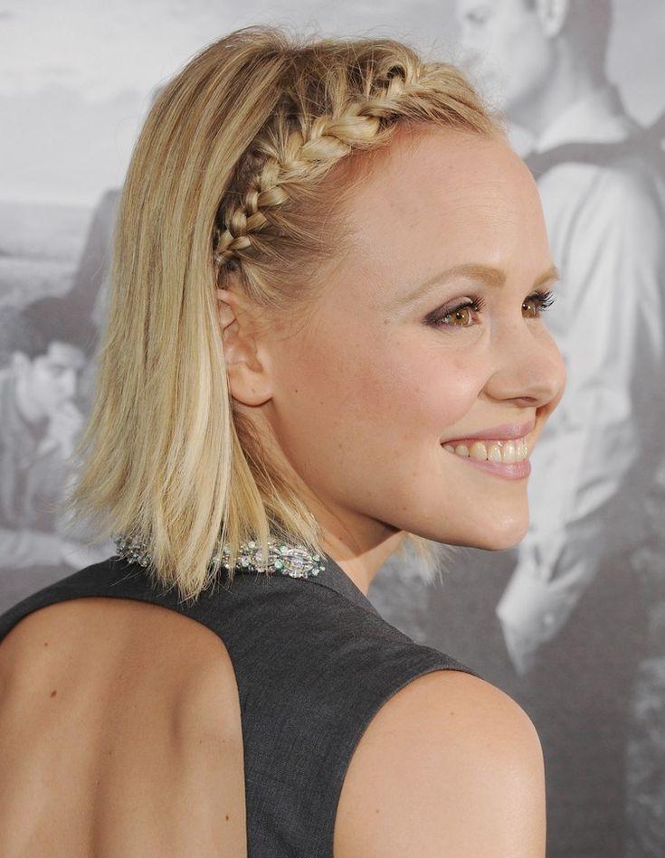 pony weg flechten mittellange haare blond #haare #frisuren #hairstyle