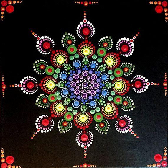 12 x 12 en pintura de Mandala en lona
