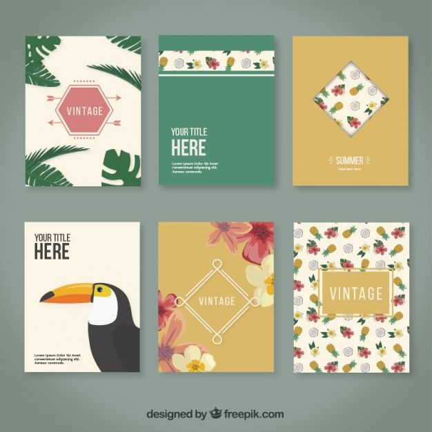 Brochures tropicales Vecteur gratuit