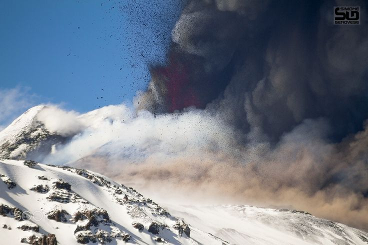 "Volcanic explosion - Paroxysm of Etna volcano in April 2013 <a href=""https://www.facebook.com/simonegenovesephoto?ref=hl"">Simone Genovese Facebook</a> <a href=""https://www.instagram.com/genovesesimone/?ref=hl"">Instagram</a> 