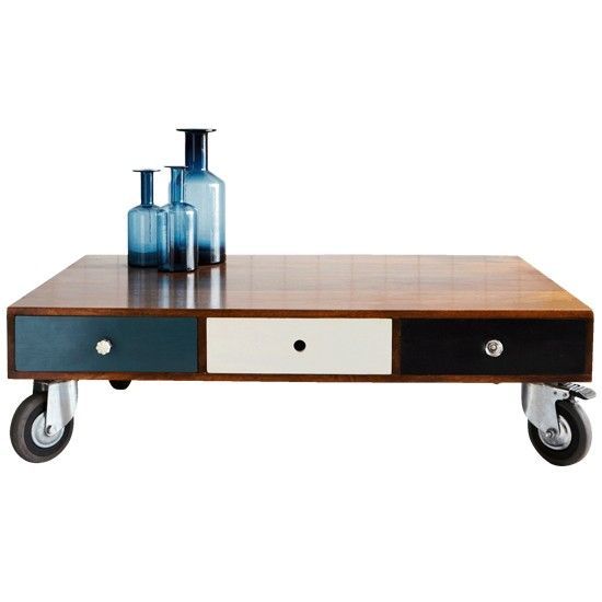 Wooden 3-drawer coffee table from Graham & Green | Housetohome.co.uk
