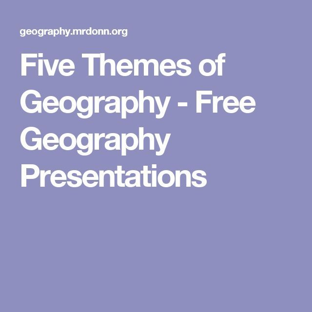 Five Themes of Geography - Free Geography Presentations