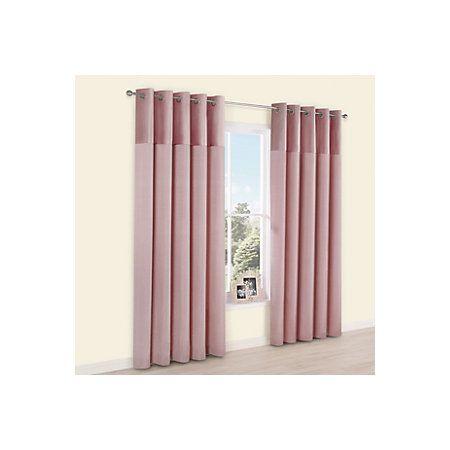 View Linnet Dusky Pink Panelled Velvet & Faux Silk Eyelet Curtains (W)228cm (L)228cm details