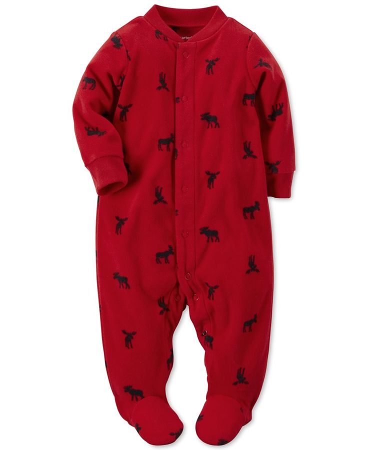 Carter's Baby Boys' Micro-Fleece Snap-Front Footed Coveralls