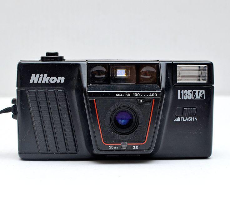 Vintage Nikon L123 AF 35mm Film Point and Shoot Camera by vtgwoo on Etsy