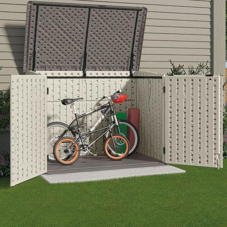 praktische garage f r fahrr der fahrradschuppen oder fahrradgarage im au enbereich garten. Black Bedroom Furniture Sets. Home Design Ideas
