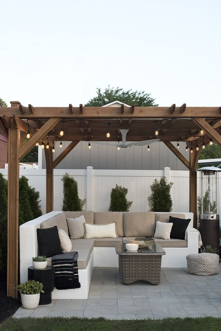 The Backyard One Year Later Room For Tuesday Blog Mit Bildern - Pergola Over Terrasse
