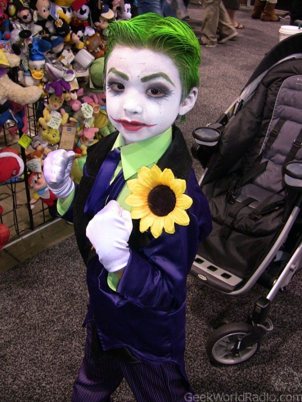 horrible blue with yellow flower halloween costumes for kids - Joker Halloween Costume Kids