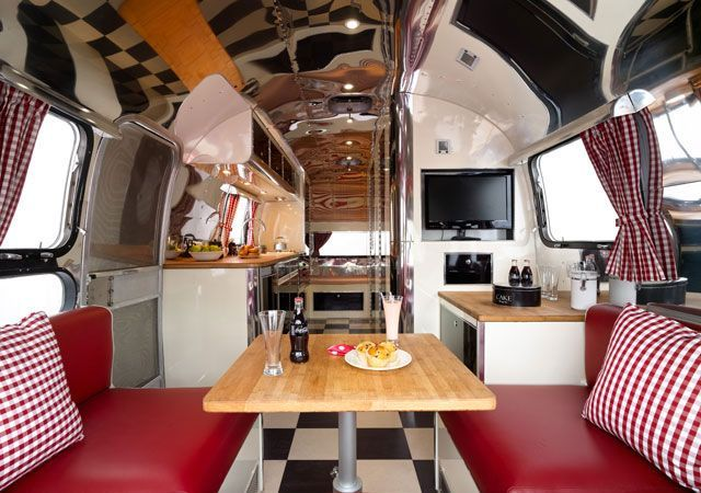 Would love to revamp a scamp or mini airstream in 50's style.