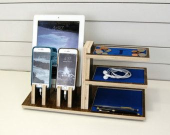 Honeycomb Charging Station Valet by PineconeHome on Etsy