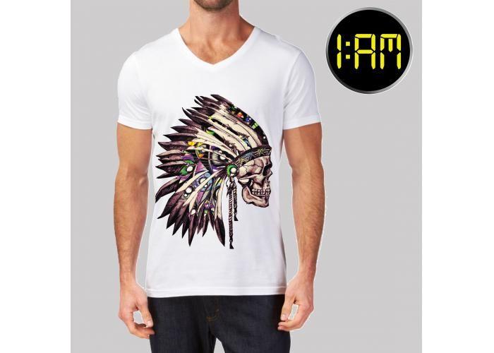 Camisa de Algodón sintético Diseños originales hechos por un mismo artista Tallas de Chica a Extra grande Color Blanco Es indestructible! :) sin cuidados especiales, no se destinta.