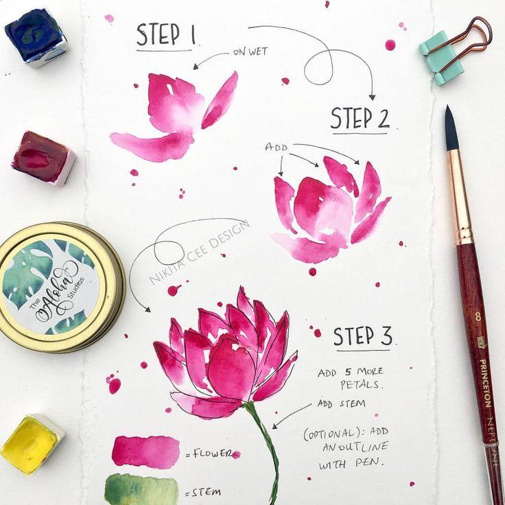 Erfahren Sie, wie man einen schönen Lotus malt ✨ Viele von Ihnen hatten nach einem einfachen Lotus gefragt …