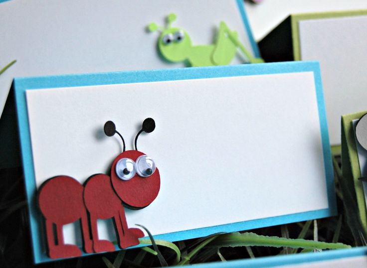 Bug Party Name Tags, Bug Party Buffet Tags, Bug Party Food Names (set of 6)