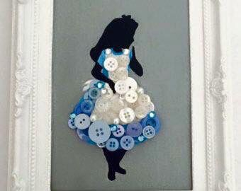 Alice in Wonderland button art