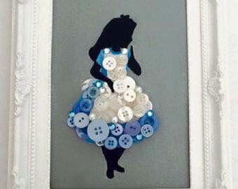 Alice in Wonderland button art