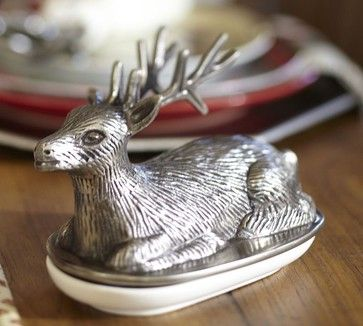 Reindeer Butter Dish - eclectic - Butter Dishes - Pottery Barn