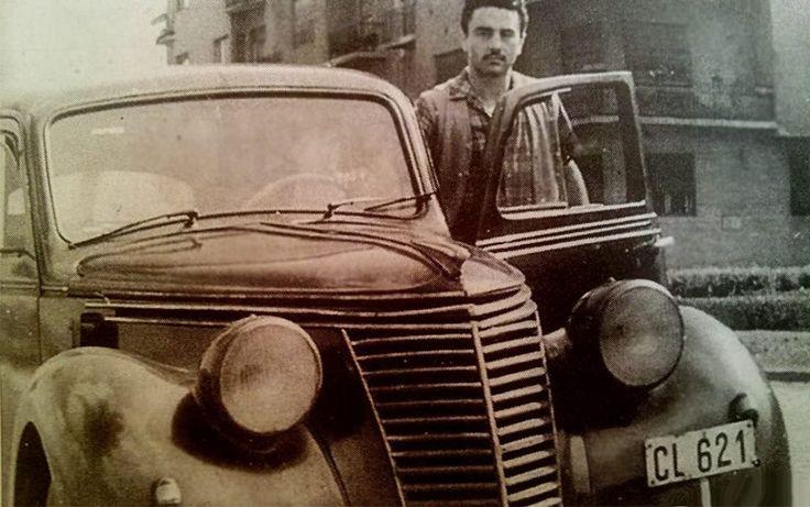 Papp Laci Fiat 1100-ával.... (50-es évek)