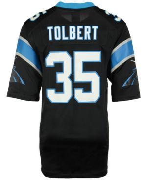 Nike Men's Mike Tolbert Carolina Panthers Game Jersey  - Black XL