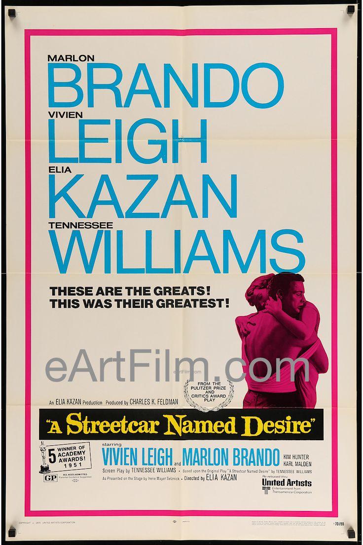 A Streetcar Named Desire-R70-1952-27x41-Vivien Leigh-Marlon Brando-Elia Kazan