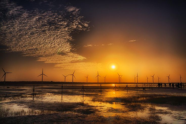 Wetland, Windmill, Sunet by Gordon Chiam on 500px