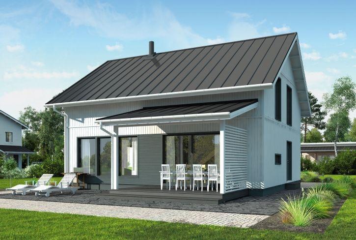 Mahtavan avara pohjaratkaisu – Heikki: 147 m², 4 makuuhuonetta, 1,5-kerroksinen omakotitalo