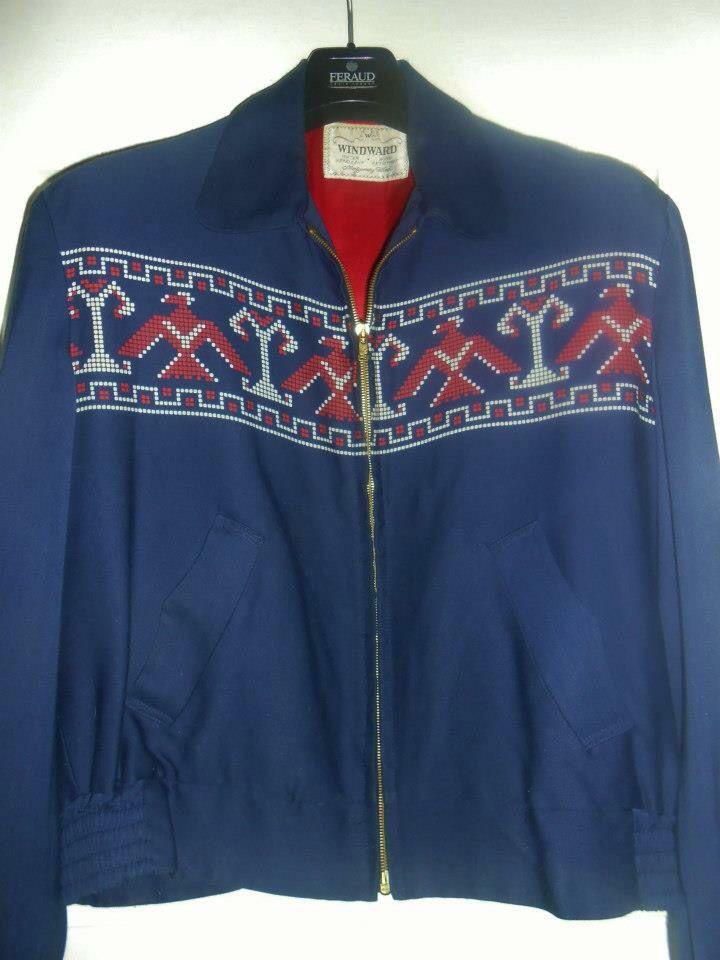 50s gabardine jacket - label Windward