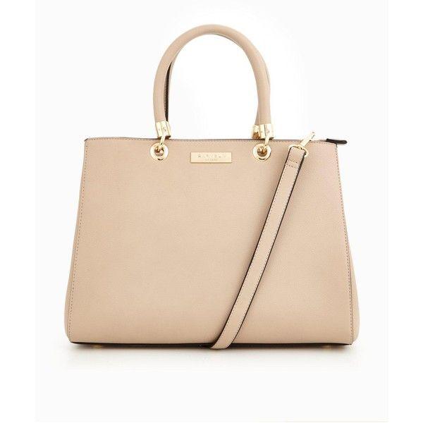 Carvela Darla Tote Bag (£59) ❤ liked on Polyvore featuring bags, handbags, tote bags, tote hand bags, handbags tote bags, tote bag purse, beige tote bag and beige tote