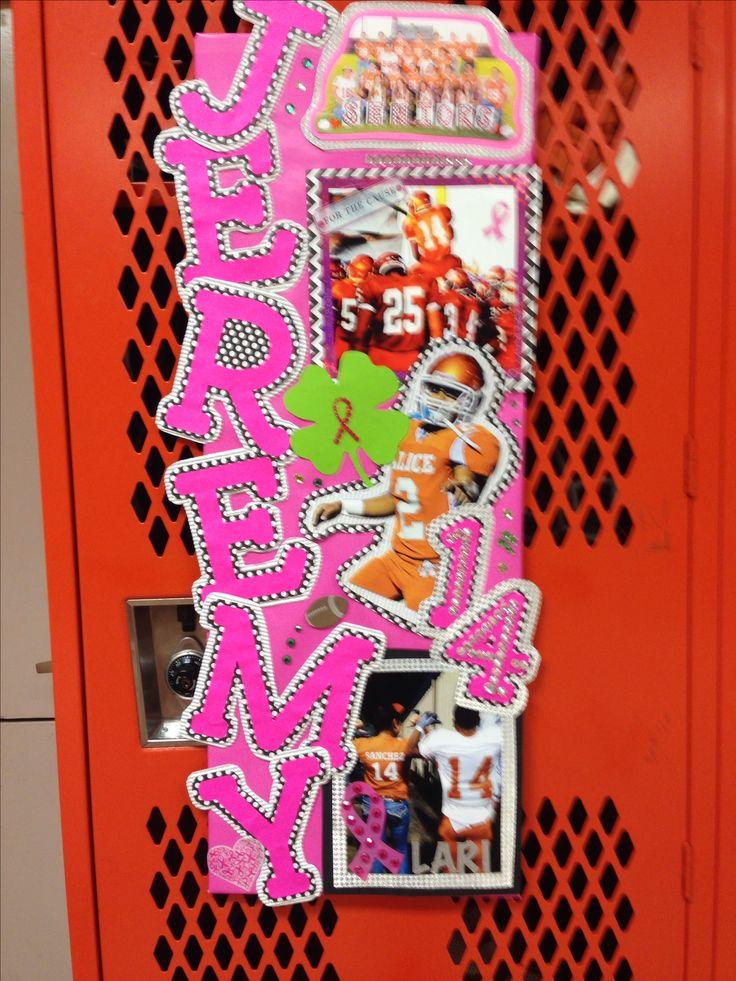 Football locker decoration #thinkpink