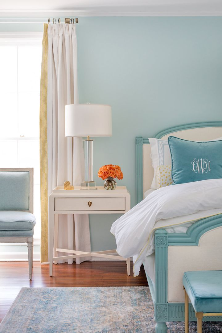 Rachel Cannon Limited Interiors Paint Info Walls U2013 Sherwin Williams SW 6211  Rainwashed Bed (