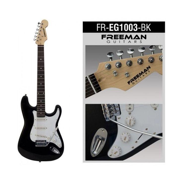 FREEG1003. Guitarra eléctrica EG1003 marca Freeman, modelo stratocaster, diseñada para aquellos que recién comienzan con el estudio de este instrumento.   70000