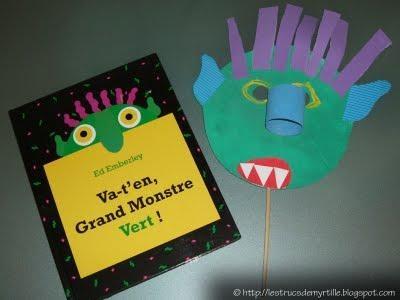 marionnette grand monstre vert