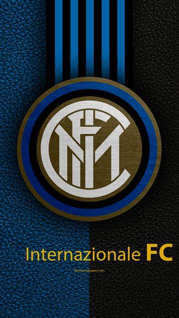 Internazionale FC, 4k, il calcio italiano di club, Serie A, emblema, logo, effetto pelle, Milano, Italia, italiano ai Campionati di Calcio, Inter, Milan