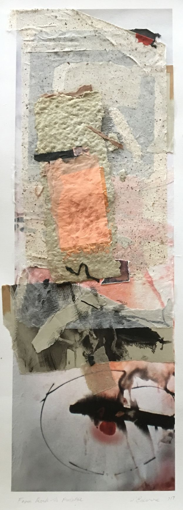 Elaine d'Esterre - From Rock to Palette, 2017, digital print and collage, 75x25 cm. Also ART BLOG at http://elainedesterreart.com/ and http://www.facebook.com/elainedesterreart/ and http://instagram.com/desterreart/