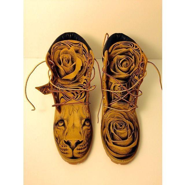 Cute custom timberland boots