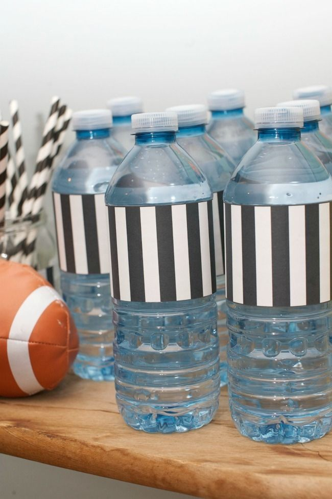 printed referee water wraps AND blank tags/labels w/blk&wht borders #HomeBowlHeroContest