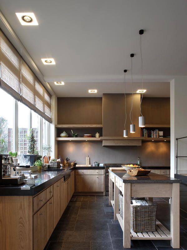 Arbeitsplatte küche granit holz  Natürliche Küche durch Holz und Granit