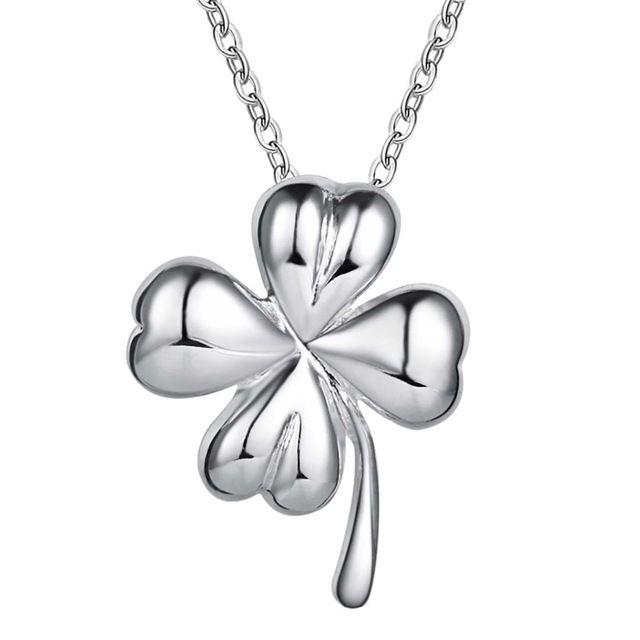 Оптовая посеребренные шарм jewelrys Ожерелье, бесплатная доставка 925 штампованные ювелирные изделия кулон цветочек AN591