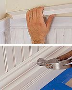 Installation of Beaded-Board Wainscotingat The Home Depot