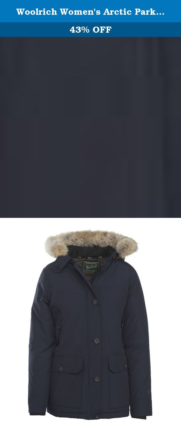 Woolrich Women's Arctic Parka, Deep Navy, Small. Modeled after our men's arctic parka, introduced in 1972 for workers constructing the Alaskan pipeline (where the average winter low is minus 25 degrees Fahrenheit), our women's arctic parka is every bit as durable - with a more flattering fit. Many have braved the most extreme temperatures in this parka, which has more recently achieved Global status as a fashion icon. The generously pocketed parka provides ample warmth and coverage, from…